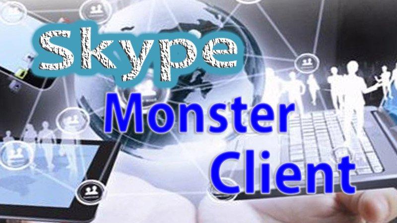 Программа «Skype Monster Client» – для эффективного заработка в сети