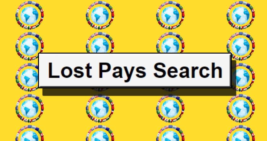 Lost Pays Search. Система онлайн поиска неполученных выплат